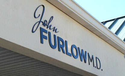 Direct primary care physician Dr. John Furlow Signage